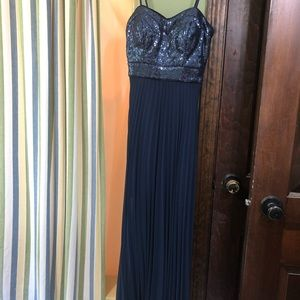 Navy Blue Caché Prom Dress